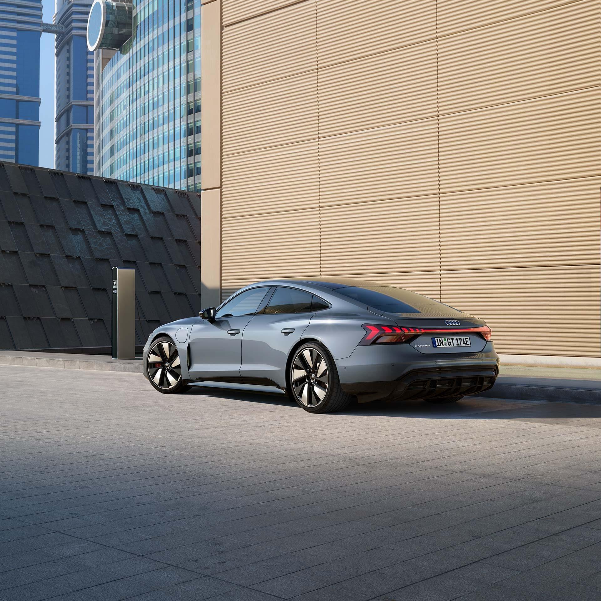 Audi e-tron GT recharge espaces publics