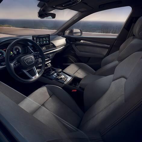 Interior des Audi Q5 TFSI e