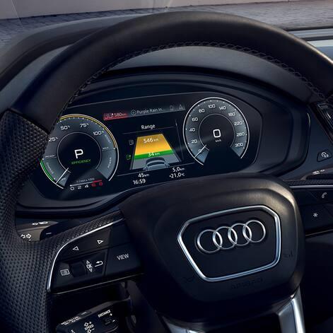 Powermeteranzeige des Audi Q5 TFSI e